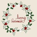 Mistletoe circle postcard2 Royalty Free Stock Photo