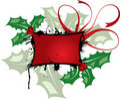 Mistletoe grunge frame, elements for design, vector Royalty Free Stock Image
