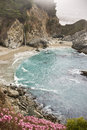 Misty Cove at Big Sur Stock Photo