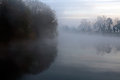 Misty dawn on the river Royalty Free Stock Photography