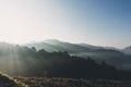 Misty landscape Royalty Free Stock Photo