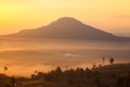 Misty morning sunrise in mountain at khao kho phetchabun thaila thailand Stock Photography