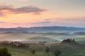 Misty morning in Tuscany Royalty Free Stock Photo