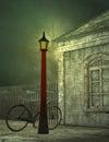 Misty train station