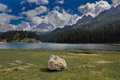 Misurina lake, Dolomites, Italy. Royalty Free Stock Photo