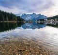 Misurina lake in Dolomites, Italy. Royalty Free Stock Photo