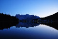 Misurina lake during the ending of the day Royalty Free Stock Photo