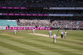 Mitchell Johnson bowling at SCG Royalty Free Stock Photo