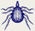 Mite bug doodle style vector illustration Royalty Free Stock Photo