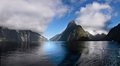 Mitre Peak in the Milford Sound Stock Image