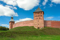 Mitropolichya tower (Veliky Novgorod, Russia) Stock Photography