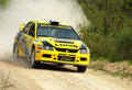 Mitsubishi Lancer Evo IX  rally car Royalty Free Stock Photo