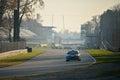 Mitsubishi Lancer Evo IX rally car at Monza Royalty Free Stock Photo