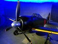 Mitsubishi A6M Zero in Auckland Museum Royalty Free Stock Photo