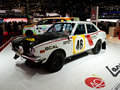 Mitsubishi rally origins Geneva 2014 Royalty Free Stock Photo