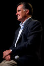 Mitt romney appears at a town hall meeting in mesa az june former massachusetts governor on june arizona Stock Photo