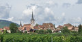 Mittelbergheim in alsace cloudy scenery including a village of a region france named Stock Photography