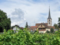 Mittelbergheim in alsace detail of a village of a region france named Stock Photo