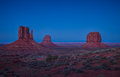 Mitten Buttes in Monument Valley Royalty Free Stock Images