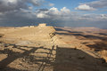 Mitzpe ramon israel desert view Royalty Free Stock Images