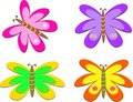 Mix of Bright Color Butterflies Royalty Free Stock Photo
