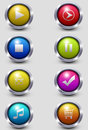 Mix of buttons set mixed on a bright background Royalty Free Stock Image