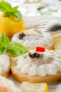 Mix of canapes Stock Images