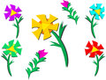Mix of colorful flowers and stems here is a variety plants different colors Stock Photo