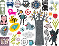 Mix of different vector images vol and icons Stock Photo