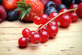 Mix of differrerent berrie close up Royalty Free Stock Photography