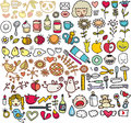 Mix of doodle images vol in Royalty Free Stock Images