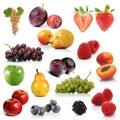 Mix of exotic fruits on white background Stock Photo