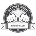 Mix fight combat emblem - fists