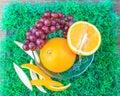 Mix fruit grape and orange thailand stock photo Royalty Free Stock Image