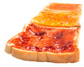 Mix Fruit Jam Spread And Toast VIII Royalty Free Stock Photo
