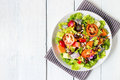 mix fruit and vegetable salad Royalty Free Stock Photo