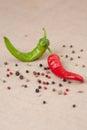 Zmiešať z horúci papriky vertikálne