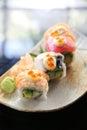 Mix maki sushi roll japanese food Royalty Free Stock Photo