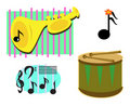 Mix of Musical Images Royalty Free Stock Images