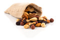 Mix nuts, dry fruits and grapes Royalty Free Stock Photo
