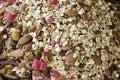 Mix nuts and raisins Royalty Free Stock Photo