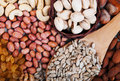 Mix of nuts and raisins Royalty Free Stock Photo