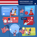 Mix Race People Celebrate United States Independence Day Holiday 4 July Banner Greeting Card Royalty Free Stock Photo