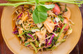 Mix salad vegetable this is thailand style it call somtum Stock Photo