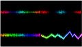 Mix sound wave is a colorful background. Stock Image
