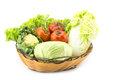 Mix vegetable in basket Royalty Free Stock Photo