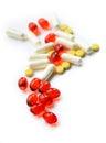 Mix of vitamins Royalty Free Stock Photo