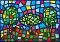 Tree moses Stained glass