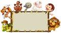 Mixed animals banner Royalty Free Stock Photo