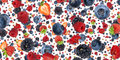 Mixed Berries background (on white) Royalty Free Stock Photo